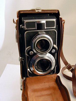 Zeiss Ikon Ikoflex Favorit Twin Lens Reflex - Carl Zeiss Tessar Lens - With Case