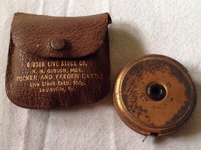 Vintage Gibson Live Stock Company Advertising Tape Measure~Louisville, Kentucky