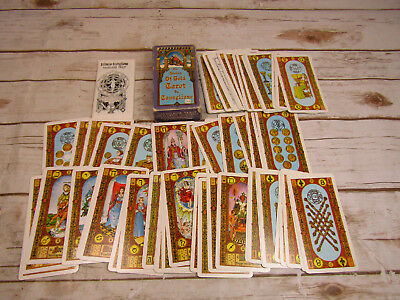 Stairs of Gold Tarot Card Set by Tavaglione 1979 Complete Booklet Original Box