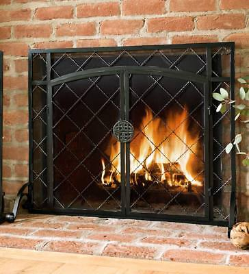 2 Door Celtic Knot Flat Fireplace Screen 39w X 31h In Pewter