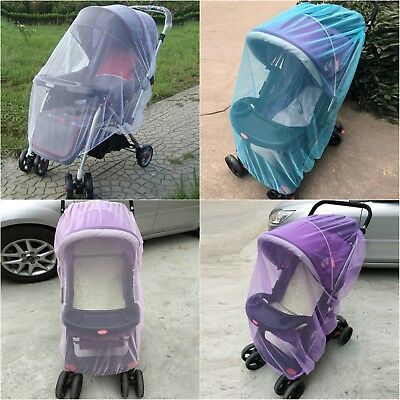 Baby Stroller Mesh Cover Pushchair Net Mosquito Bug Safe Infant Insect Protector