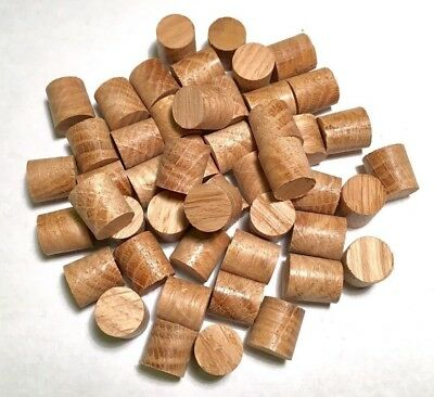 10mm European Oak Tapered Tip Plugs/Bungs/Dowels - Packs of 10, 25, 50,100
