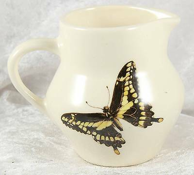 Brixham Pottery made in Devon butterfly small jug 3 inches tall collectable
