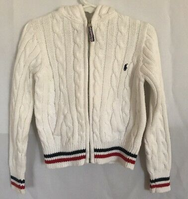 Polo Ralph Lauren Toddler Boys 5 White Sweater Jacket Knitted VIntage