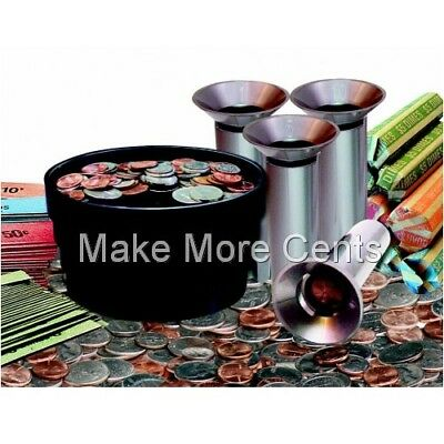 Coin Sorter Kit 28 Pieces - Handy Convenient Way to Roll Coins FREE SHIPPING