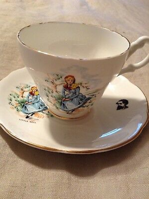 Vintage Royal Ascot Bone China Made in England Teacup & Saucer Little Nell EUC