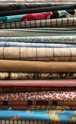 Lot Of 18 Different Fabrics No Repeats Medium Flat Rate Box Stuffed