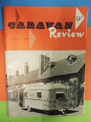 Caravan Review Magazine Jul/Aug 1959 Caravans, Mobile Units & Motorhomes. 1959