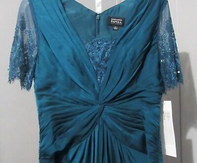 BEAUTIFUL MOTHER OF THE BRIDE FORMAL adrianna papell teal color size 4