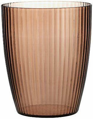 Carnation Home Fashions Brown Ribbed Acrylic Waste Basket