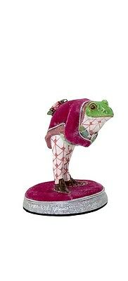 """Katherine's Collection frog bowing figurine pink 4.5""""  28-530625"""