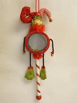 """Katherine's Collection frog drum stick ornament decoration retired new 11"""""""