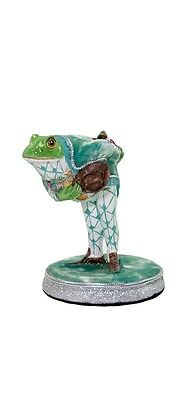 """Katherine's Collection frog bowing figurine green 4.5""""  28-530625"""