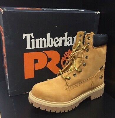 """Timberland Pro Direct Attach 8"""" WP Steel Safety Toe Men's Work Boots (Size 10)"""
