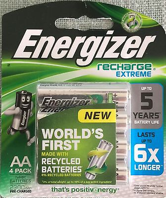 ENERGIZER RECHARGE AA 2300 mAh 4 PACK PRE CHARGED BATTERIES NEW & SEALED