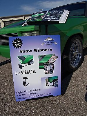 CAR SHOW DISPLAY StandPowder Coated Super Silver PicClick - Car show display board stands