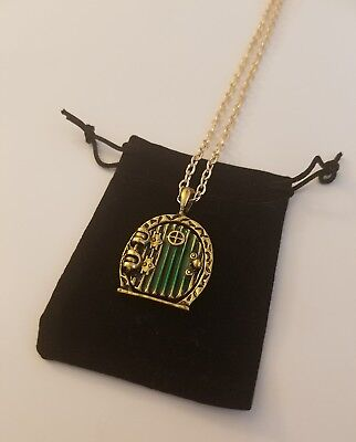 Hobbit Door Locket Necklace Lord of the Rings Inspired + Cloth Gift Bag