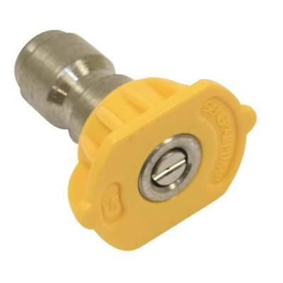 "New Stens 758-410 1/4"" Quick Connect Nozzle Size 3.0 Yellow 15 Spray Angle"