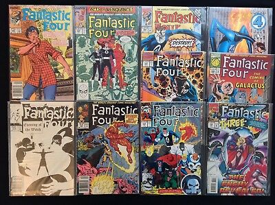 FANTASTIC FOUR Lot of 10 Marvel Comic Books - #276 287 313 334 349 352 366 384+!