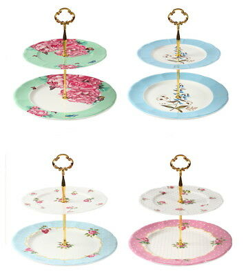 Royal English Traditional Double Tiered Cake Stand AU STOCK Fast postage