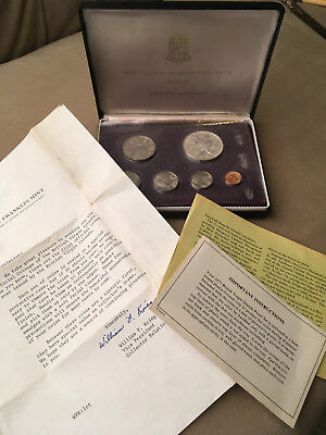 1973 6 pc British Virgin islands  PROOF SILVER COIN SET BOX PAPERS 3 DAY AUCTION