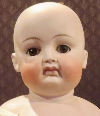 """Antique 20"""" German Bisque Closed Mouth Kestner Fat Cheeked Pouty Fashion Doll"""