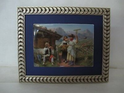 Stunning C. 1890 Kpm Porcelain Plaque Signed Wagner Featuring A Farm Scene