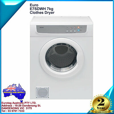 Eurotag 6kg auto sensor Clothes Dryer Air Vented Front Load Wall Mount brand new