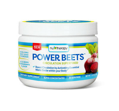 Nu-Therapy POWER BEETS CIRCULATION SUPER FOOD Concentrated Dietary Supplement