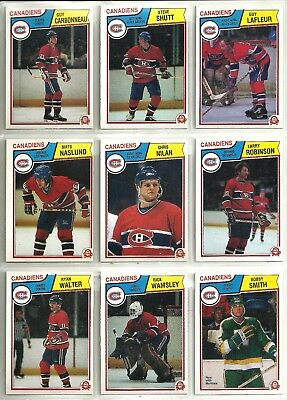 1983-84 O-Pee-Chee Hockey 20-card Montreal Canadiens Team Set  Charbonneau RC