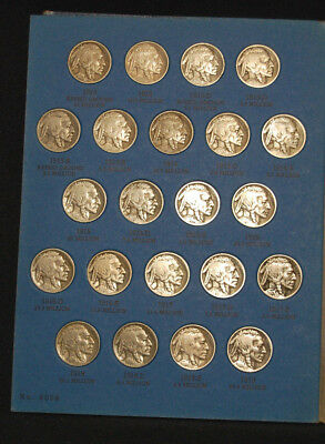 Buffalo Nickel Collection 1913 - 1938 Complete 64 Coins
