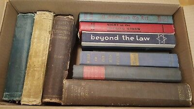 Lot of 10 Old Vintage Antique Hardcover Books Some Rare