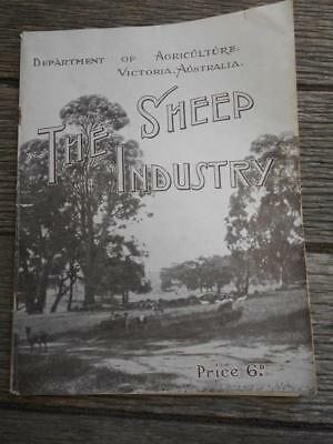 Scarce 1935 The Sheep Industry Agriculture Australia diseases classing shearing
