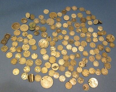 WORLD SILVER COIN LOT SET COLLECTION - ALL CULL/DAMAGED. 280.6 Grams