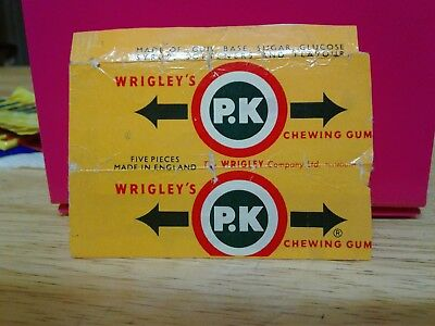 Vintage Rare Chewing Gum Wrapper Wrigley's P. K