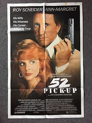 Roy Scheider – Ann-Margret – 52 Pick-Up – 1981 Original Movie Poster – Near Mint