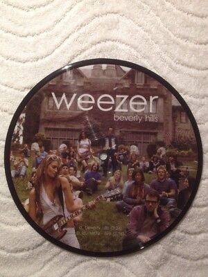 "WEEZER: Beverly Hills, 7"" PICTURE DISC! VG+"