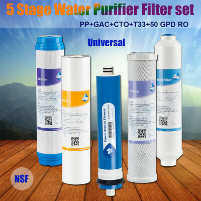 Standard 100GPD Water Purifier Filter for 5 Stage Reverse Osmosis System Sealed