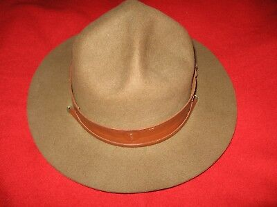 Vintage Boy Scouts Of America Scout Master Hat , BSA campaign felt, Made in USA