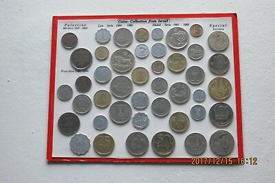 Coins Collection from Israel/Palestine 1927-1985 {44 coins}