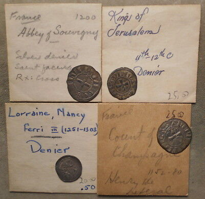 4 Different Medieval Coins From France & Environs Ex-Wayte Raymond Inc.