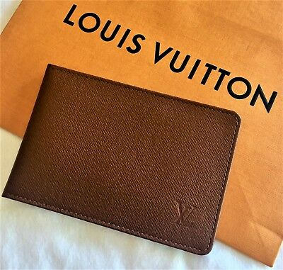 Louis Vuitton Tiaga Leather Passport ID Holder Camel Leather Organizer Supreme