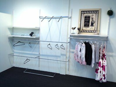 clothing store shelving / hanging system