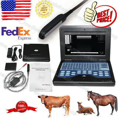 USA fedex Notebook ultrasound scanner Veterinary+6.5MHZ Rectal Probe.Animals use