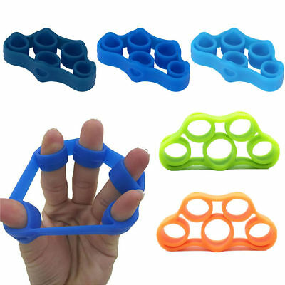 Finger Trainer Muscle Exerciser Grip Resistance Band Hand Stretcher Silicone