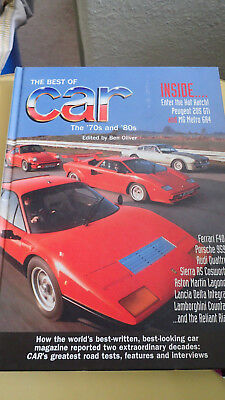 Best of car magazine Hard back book The '70s and '80s Good condition