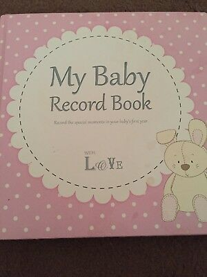 My Baby Girls Record Book -special First Year Moments. Pink