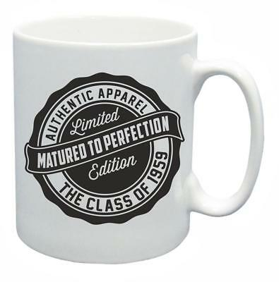 60th Novelty Birthday Gift Mug Year 1959 Matured To Perfection Funny Coffee Cup