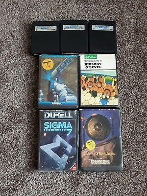 Commodore 64 : 4 Original cassette games  3 cartridge games