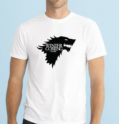 Game of Thrones Winter is coming Stark T Shirt tee top great gift present idea